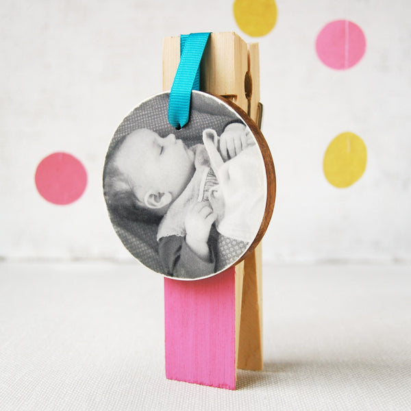 Personalised Baby Photograph Decoration - Clara and Macy