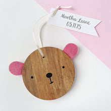 New Baby Personalised Bear Keepsake - Clara and Macy