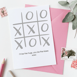 XOXO Noughts And Crosses Card - Clara and Macy