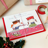 Macy Loves Sprouts Christmas Card - Clara and Macy