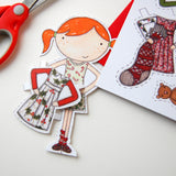 Paper Doll Christmas Wrapping Paper Set - Clara and Macy