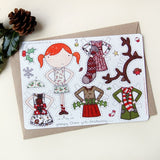 Clara Paper Doll Christmas Outfits - Clara and Macy