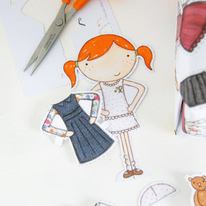 Clara Paper Doll Wrapping Paper Set - Clara and Macy