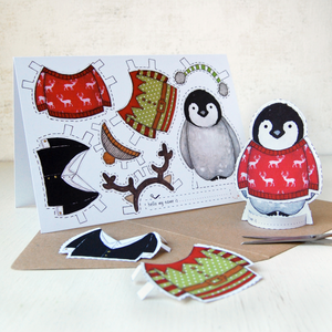 Dress Up A Penguin Card