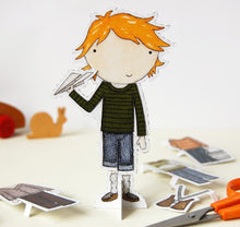 Colin Dress Up Paper Doll - Clara and Macy