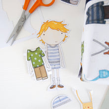 Colin Paper Doll Wrapping Paper Set - Clara and Macy
