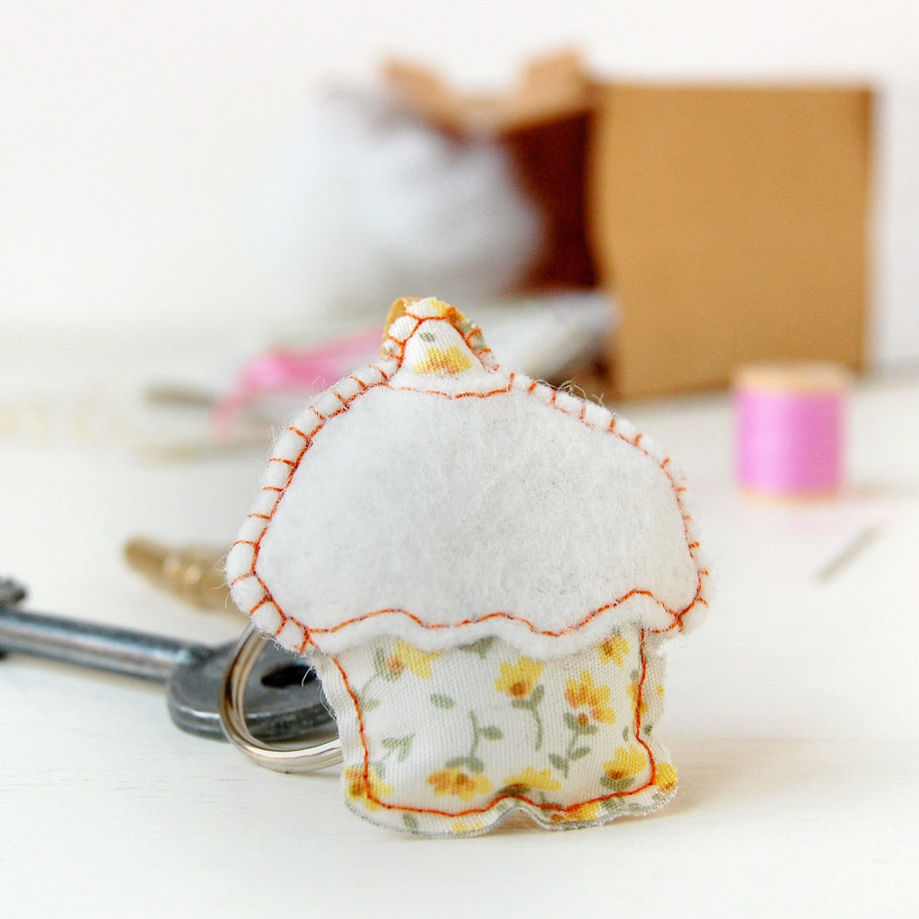 Make Your Own Cupcake Keyring Craft Kit - Clara and Macy