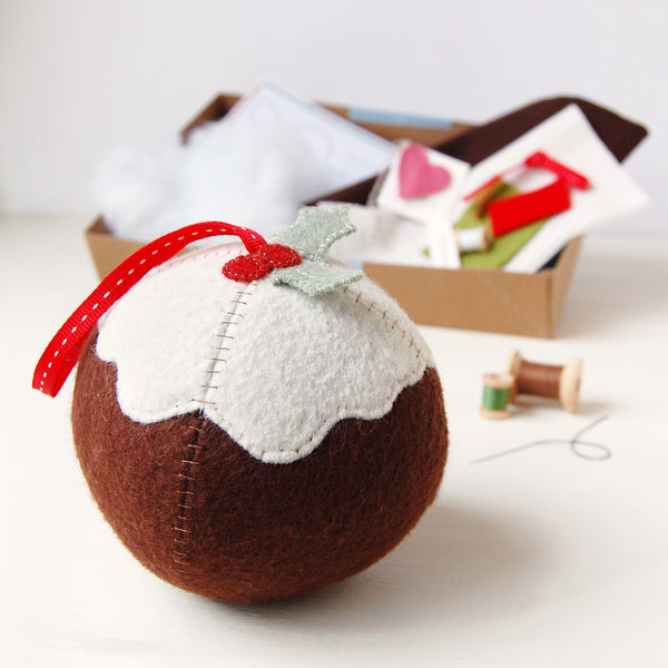Make Your Own Christmas Pudding Craft Kit - Clara and Macy