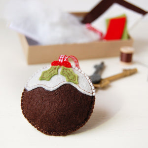 Make Your Own Christmas Pudding Keyring Decoration Craft Kit - Clara and Macy