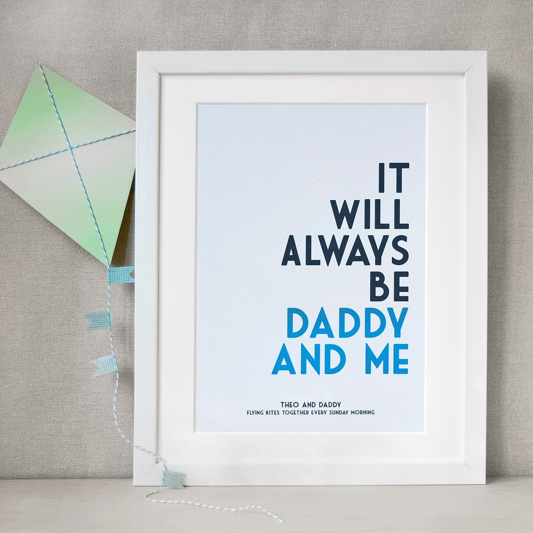 Personalised Daddy And Me Print - Clara and Macy