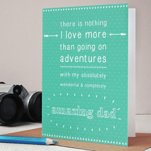 Personalised Amazing Dad Father's Day Card - Clara and Macy