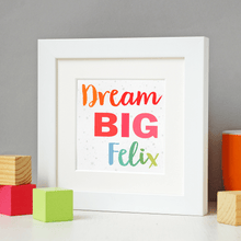 SECONDS / Framed Personalised Dream Big Print - Clara and Macy