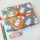 Finger Puppet Interactive Wrapping Paper Set - Clara and Macy