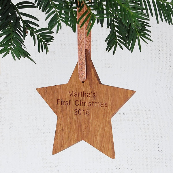 Personalised Baby's First Christmas Star - Clara and Macy