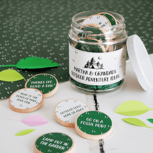 Personalised Grandad's Outdoor Adventures Ideas Jar - Clara and Macy