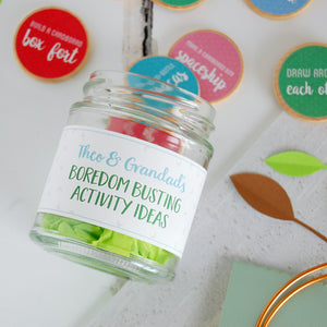 Personalised Grandad And Me Activity Ideas Jar - Clara and Macy