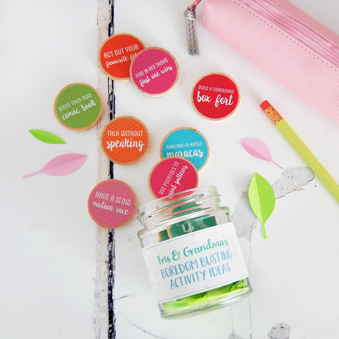 Personalised Grandma And Me Activity Ideas Jar - Clara and Macy