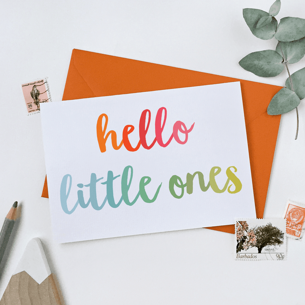 Hello Little Ones New Baby Twins Card - Clara and Macy
