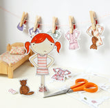 Clara Paper Doll Bedtime Outfits - Clara and Macy