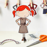 Clara Paper Doll Winter Outifts - Clara and Macy