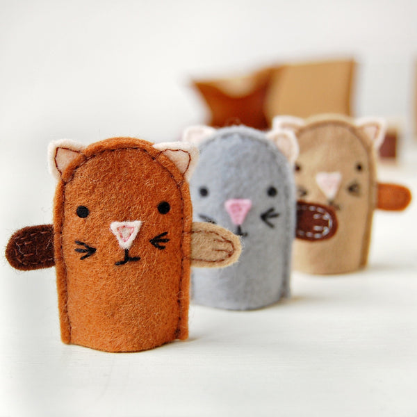 Make Your Own Kitten Finger Puppets Craft Kit - Clara and Macy