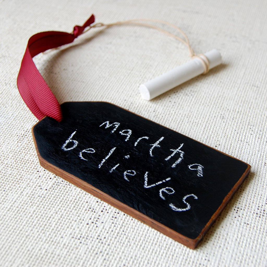Wooden Blackboard Luggage Tag Decoration - Clara and Macy