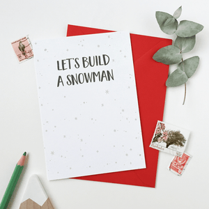 Let's Build A Snowman Card - Clara and Macy