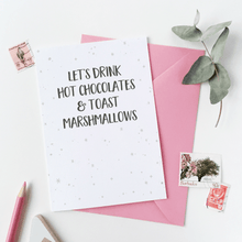 Let's Drink Hot Chocolates Card - Clara and Macy