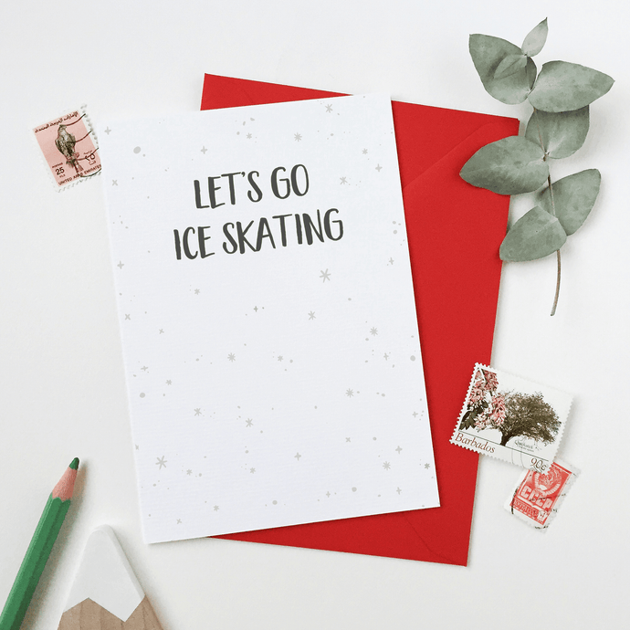 Let's Go Ice Skating Card - Clara and Macy