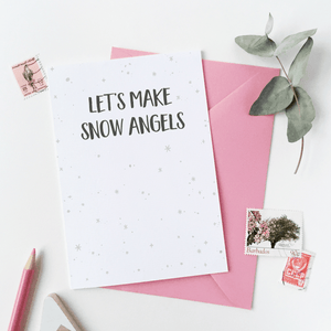 Let's Make Snow Angels Card - Clara and Macy