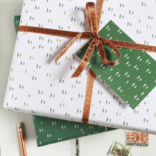 Mini Forest White Wrapping Paper Set
