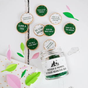 Personalised Mummy's Outdoor Adventures Ideas Jar - Clara and Macy