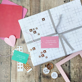 Noughts And Crosses Wrapping Paper Set - Clara and Macy