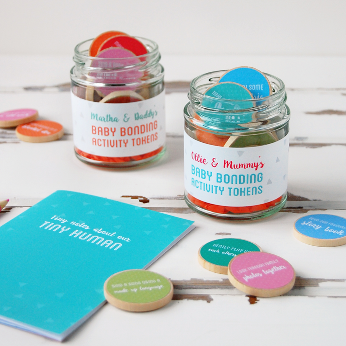 Personalised New Parents And Baby Bonding Gift Set - Clara and Macy