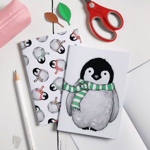 Baby Penguin Notebook - Clara and Macy