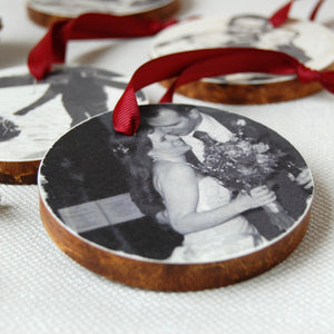 Personalised My First Christmas Photograph Decoration - Clara and Macy