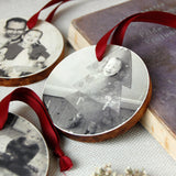 Personalised Wooden Family Photograph Decoration - Clara and Macy