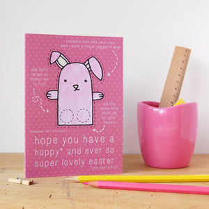 Chick Finger Puppet Easter Card - Clara and Macy