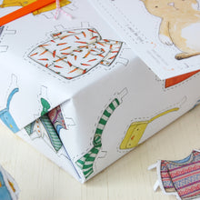 Dress Up A Rabbit Interactive Wrapping Paper - Clara and Macy