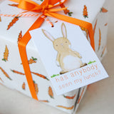 Carrots And Rabbits Wrapping Paper Set - Clara and Macy