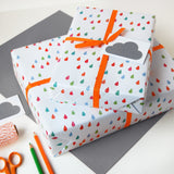Raindrop Wrapping Paper Set - Clara and Macy
