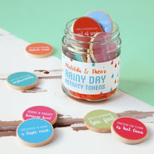 Personalised Children's Rainy Day Activity Tokens Jar - Clara and Macy