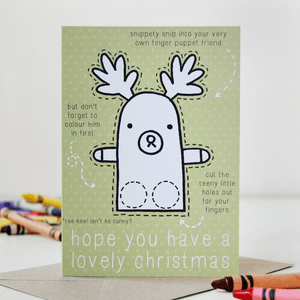 Reindeer Finger Puppet Christmas Card