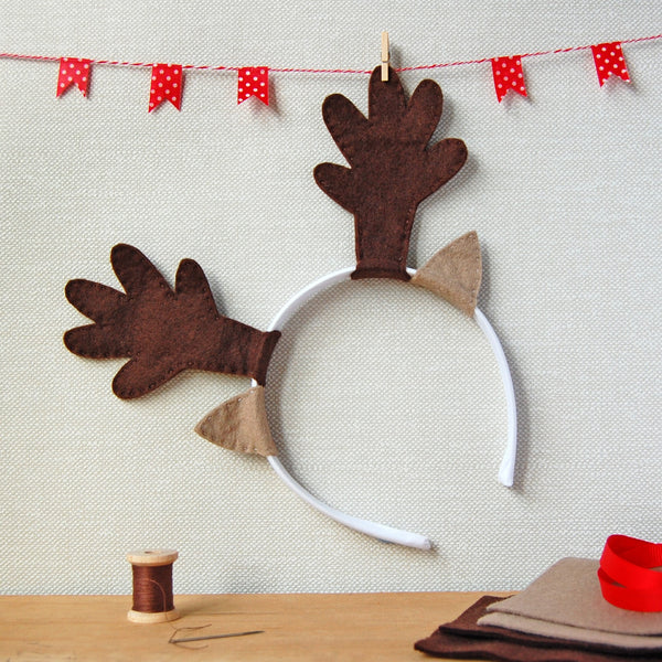 Make Your Own Reindeer Antlers Craft Kit - Clara and Macy
