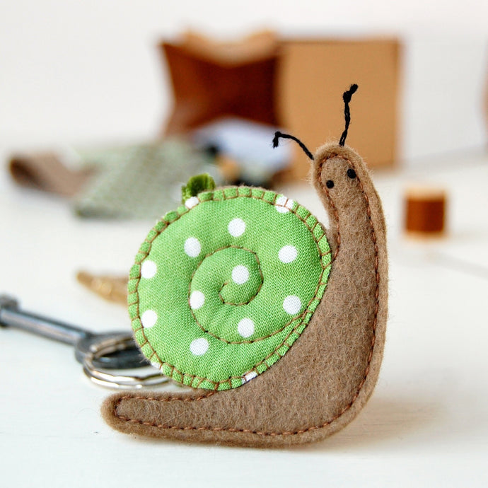 Make Your Own Snail Keyring Craft Kit - Clara and Macy