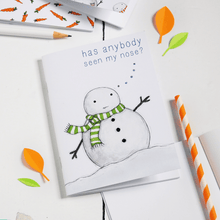 Snowman Pattern Notebook - Clara and Macy