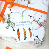 Christmas Snowman Wrapping Paper Set - Clara and Macy