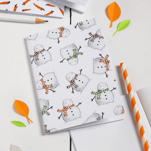 Carrot Pattern Notebook - Clara and Macy