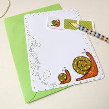 Snail Notecards - Clara and Macy