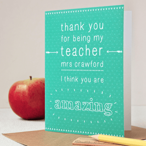 Personalised Amazing Teacher Card - Clara and Macy